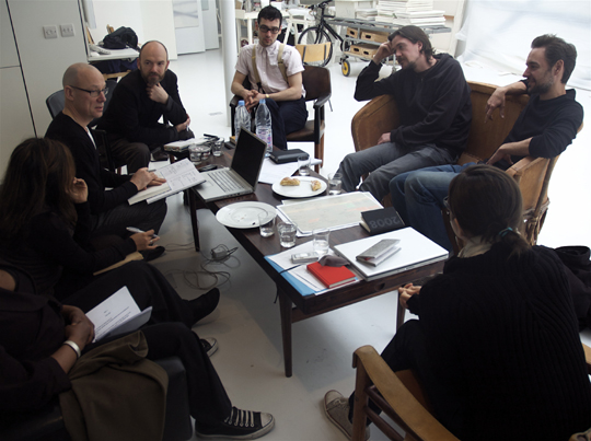 Museum Futures production meeting