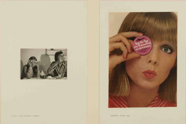 "Sanja Iveković ""Double Life"" series (1975-1976), Gelatin silver print, magazine page and text"