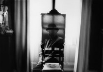 Rene Magritte by Duane Michals. Brussels, 1965.