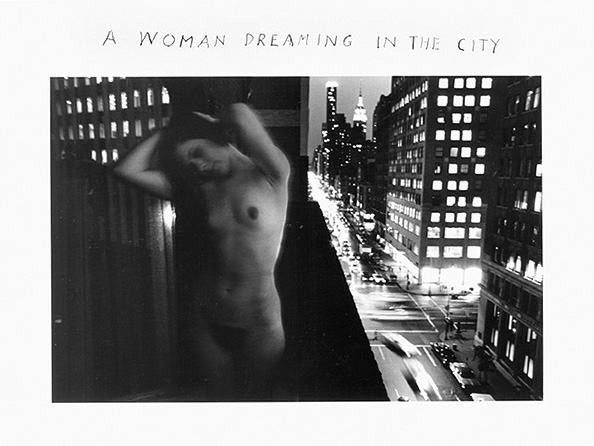 "Duane Michals, ""A Woman Dreaming in the City"" (1968). 8 x 10 silver gelatin photograph"