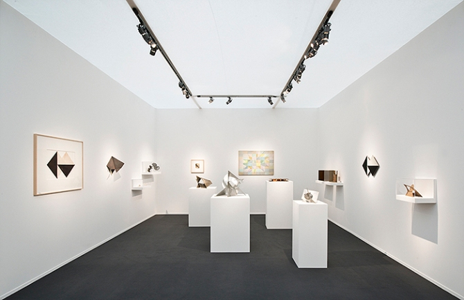 View of Alison Jacques Gallery at Frieze Masters, London, 2013, with work by Lygia Clark. Image courtesy of The World of Lygia Clark Foundation and Alison Jacques Gallery, London. Photo by Michael Brzezinski.