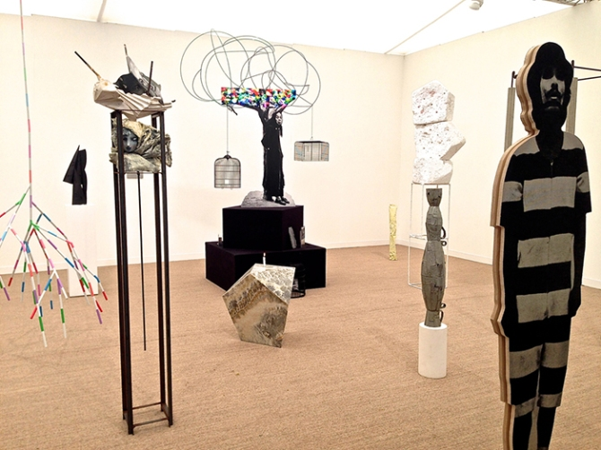 View of Stuart Shave/Modern Art at Frieze London, 2013