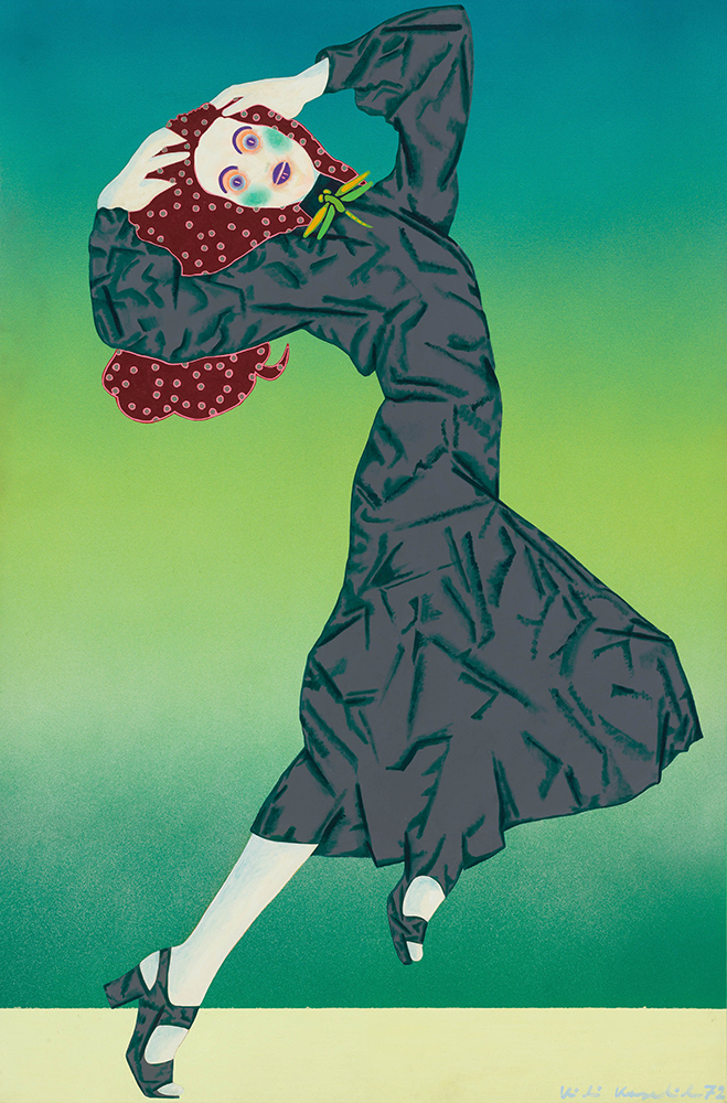 Kiki Kogelnik Dynamite Darling, 1972 oil and acrylic on canvas 183 x 122 cm; 72 x 48 in unique