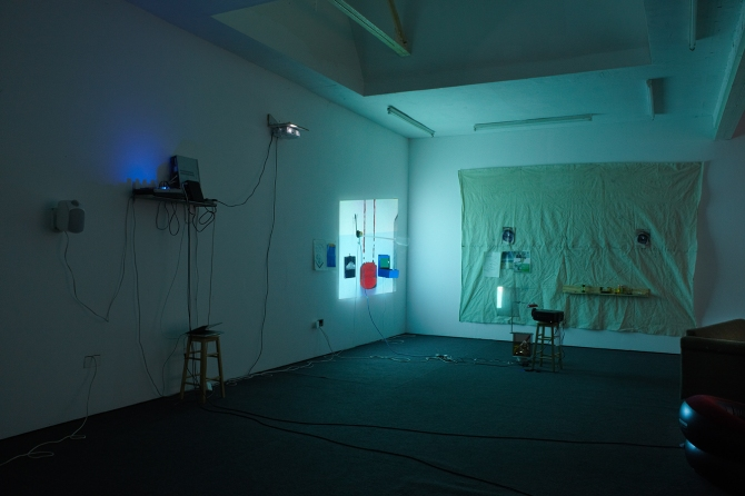 the omega point just ate his brains... (2013) installation view