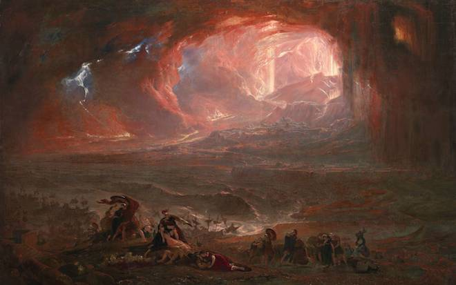 John Martin , The Destruction of Pompeii and Herculaneum (1822, restored 2011)